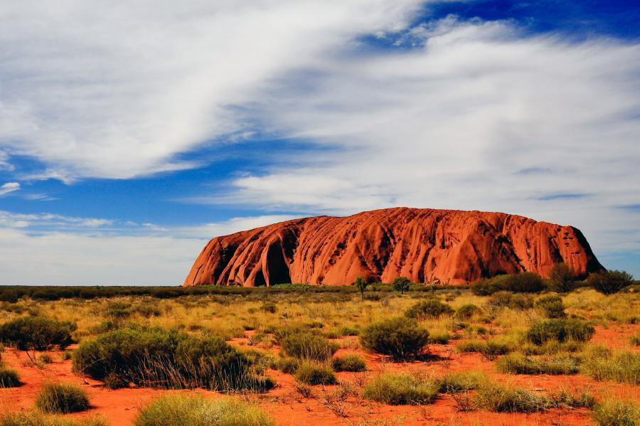 Uluru (Ayers Rock) is one of the world's great natural wonders